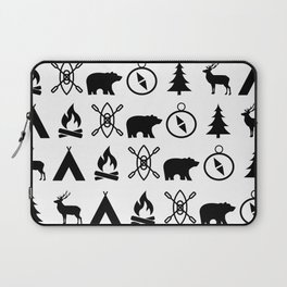 Outdoor Icon Pattern Laptop Sleeve