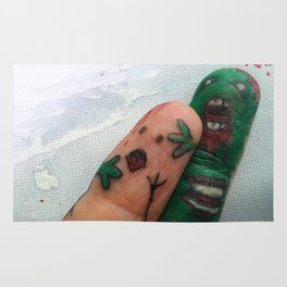 ZOMBIE FINGER ATTACK Rug