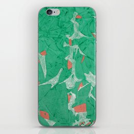 Birds - Abstract Watercolor Painting iPhone Skin