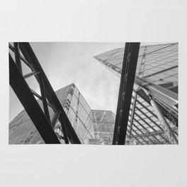 London City Girders and Tall Finance Buildings Rug