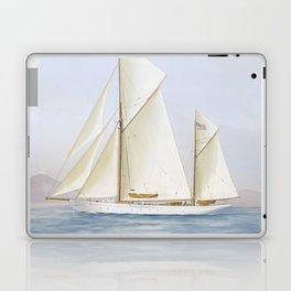 Vintage Racing Ketch Sailboat Illustration (1913) Laptop & iPad Skin