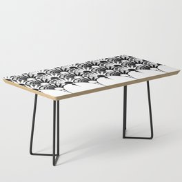 black and white art deco inspired fan pattern Coffee Table