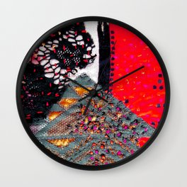 Shocking autumn house Wall Clock