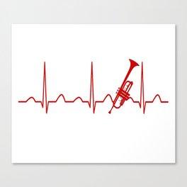 TRUMPET HEARTBEAT Canvas Print