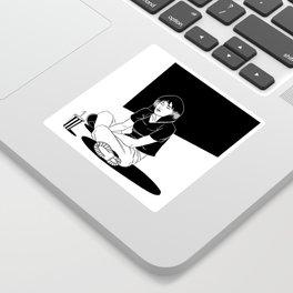 B&W Girl III Sticker