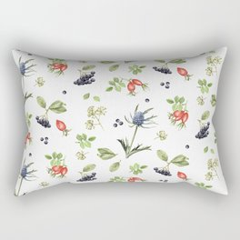rosehip, chokeberries and teasel II Rectangular Pillow