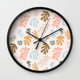 Seaweeds and sand Wall Clock