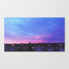 Tie Dye in the sky 3 Canvas Print