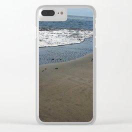 Black sand beach, El Salvador 2 Clear iPhone Case