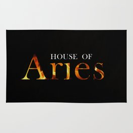 House of Aries Logo Rug