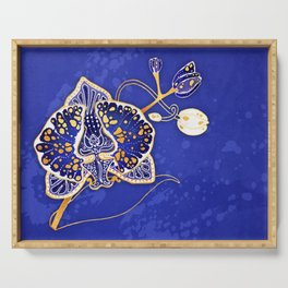 Egyptian Blue :: Orchid Serving Tray