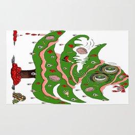 Zombie Christmas Tree Rug