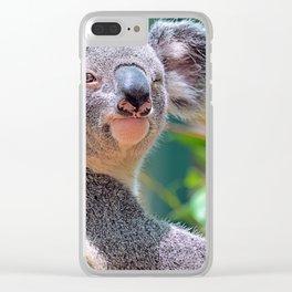 Winking Koala Clear iPhone Case