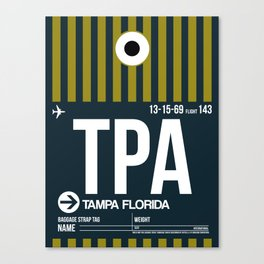 TPA Tampa Luggage Tag 2 Canvas Print