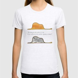 The Little Prince, a hat or a boa constrictor? T-shirt