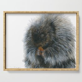 Vinnie the Porcupine by Teresa Thompson Serving Tray
