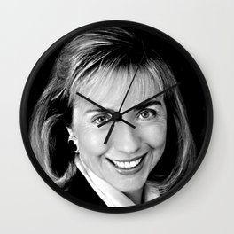 Black & white Portrait of HRC (1992) Wall Clock