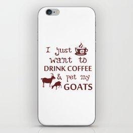 Coffee & Goats iPhone Skin