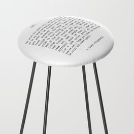 Life quote F. Scott Fitzgerald Counter Stool