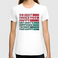 be happy T-shirts featuring Happy by Hector Mansilla