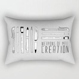 weapons of mass creation Rectangular Pillow