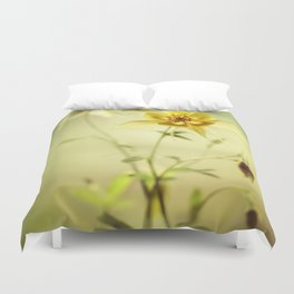 Yellow Columbines Duvet Cover