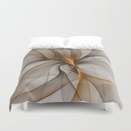 Elegant Chaos, Abstract Fractal Art Duvet Cover