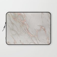 Marble Rose Gold Blush Pink Metallic by Nature Magick Laptop Sleeve