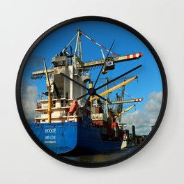 Container Ship Wall Clock
