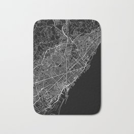 Barcelona Black Map Bath Mat