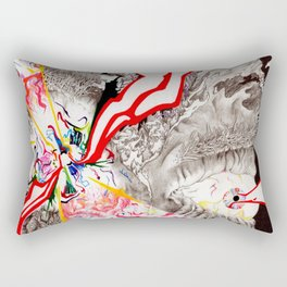 Eye see that Eye can Create (Untitled Face I) Rectangular Pillow