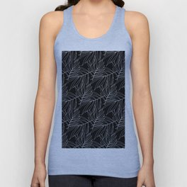 Black leaves Unisex Tank Top