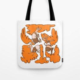 Fashion Po-Nays Orange Tote Bag