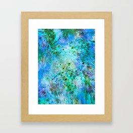 Green Fire Framed Art Print