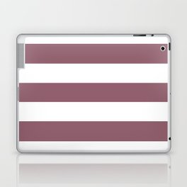 Raspberry glace - solid color - white stripes pattern Laptop & iPad Skin