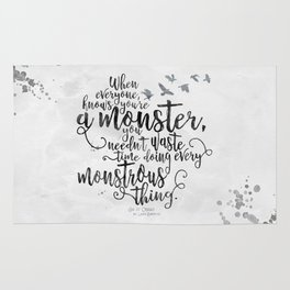 Six of Crows - Monster - White Rug