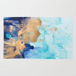Abstract watercolor Rug