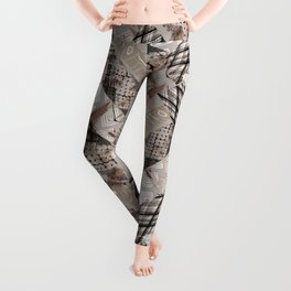 Combined ethnic pattern. Patchwork.3 Leggings