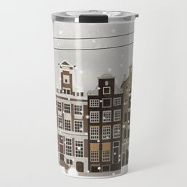 Amsterdam in the snow Travel Mug