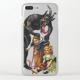 Krampus Believer Gruss Vom Merry Christmas Demon Clear iPhone Case