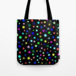 Stars on black ground Tote Bag