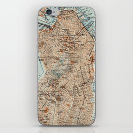 Vintage Map of Boston MA (1906) 2 iPhone Skin