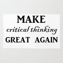 Make critical thinking great again Rug