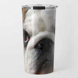 American Bulldog Background Removed Travel Mug