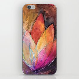 Lotus Dreaming in Colour and Dots iPhone Skin