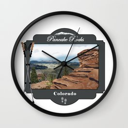 Pancake Rocks Divide Colorado Wall Clock