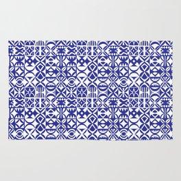 Geometric hydraulic tiles Rug