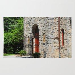 Lourdes University-  Portiuncula  Chapel Doors II Rug