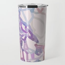 Light palette squiggly doodles Travel Mug
