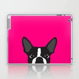 Boston Terrier Hot Pink Laptop & iPad Skin